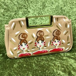 Bags - 💞NWOT 3 Red Women hand painted clutch bag